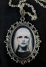 Blondie Large Antique Silver Pendant Necklace Music Icon Debbie Harry 1980's