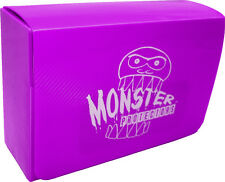 (1) BCW-MB-DD-MPU Purple Double Deck Trading Card Game Box Monster Protectors