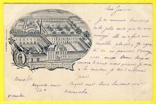 cpa RARE 59 - FLINES Lez RACHES (Nord) PENSIONNAT des DAMES de FLINES Dos 1900