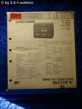 Sony Service Manual XO D1 / D1CD Compact Hifi System (#3241)