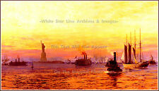 GRAND Mini-PRINT: Approach Of The New World - Norman Wilkinson, RMS Olympic 1911