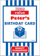 Tesco Value Birthday Card A5 Personalised with own words