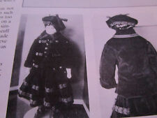 "18"" Boy China Doll Jacket/Skirt/Tam Pattern Uncut / Ruth Dougherty circa 1858"