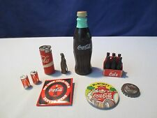 Lot 9 Old Coca Cola Unusual  Coke KEY CHAIN PINS Bottles Miniatures COLLECTION