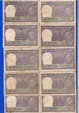 1 RUPEE ~ GANDHI NOTES ~1969 ~ EXTREMELY RARE ~ 10 NOTES LOT