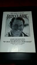 Roy Clark If I Had To Do It All Over Again Rare Original Promo Poster Ad Framed!