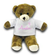 "Personalised Any Name With Butterfly Gift 7"" Teddy Bear - Pink"