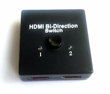 XU 1x2 HDMI Bi-Directional Switch Splitter Support 3D 1 in 2 out 2 in 1 out v1.4