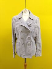Womens Fcuk Double Breasted Coat - Uk10 - Grey - Great Condition