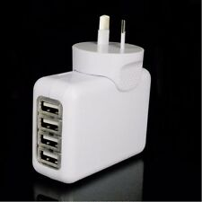 4 USB Port AC Power Travel Home Wall Charger Adapter AU Plug For Smartphone