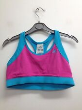 Adidas - Blue/Pink Training/Fitness Crop Top Size Uk 16 (T820) BNWT