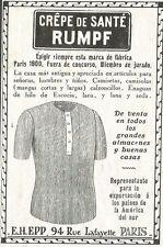 W5273 Crepe de Sante RUMPF - Pubblicità 1912 - Publicitè