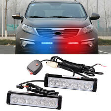 1 Kit LED Car Truck Red Blue Warning Emergency Beacon Strobe Flash Light Bar