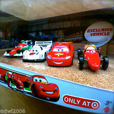 Disney PIXAR Cars MAMA BERNOULLI RACE DAY FAN 4-CAR GIFT PACK TARGET 2013 Cars 2