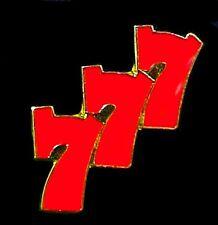 777 Jackpot Lapel Pin Slots Winner Three Sevens Gambling Cap Tac Enamel New