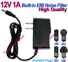DC 12V 1A Power Supply Adapter w/ EMI Noise Filter for CCTV Security Camera DVR