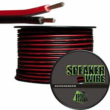 16 Gauge Speaker Wire Red Black Cable Power Ground Strand Copper 25 Ft Car Home
