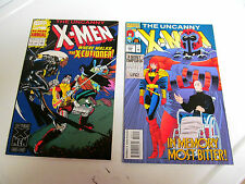 LOT 2* MARVEL COMICS * THE UNCANNY X-MEN *1994.# 309 & 1993 # 17.*64 page F/F