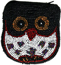 Owl Beaded Purse New! Ladies Wallet Coin Purse