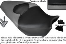 GREY AND BLACK CUSTOM FITS HONDA VFR 1200 F 09-13 DUAL LEATHER SEAT COVER