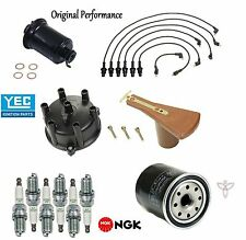 Ignition Tupe Up Kit Filter Cap Rotor Spark Plugs Wire for Toyota Cressida 83-84