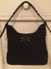 Unique Quilted Black Nylon Kate Spade Dot Noel Purse Shoulder Bag Guc
