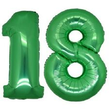 2 PALLONCINI MYLAR numero 18 verde h 100 cm festa Compleanno party addobbi
