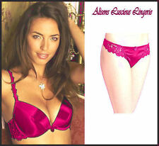Classic Pink Push up Plunge Double Inserts Bra 34A Thong 10 Set RRP: £36