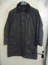 VINTAGE BARBOUR BORDER WAXED HUNTING JACKET SIZE C38 97CM GAME POCKETS