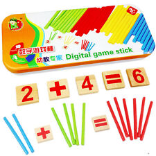 Digital Game Sticks Montessori Math Intelligence Educational Preschool Kids Toy5