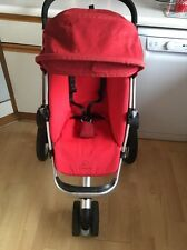 Quinny Buzz Red Rumour Full Seat Unit ONLY With 0-4 Cover & Hood VGC