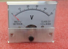 1pcs Nouveau DC 50V Analog Panel Volt voltmètre Meter Voltmeter Gauge 85C1 0-50V
