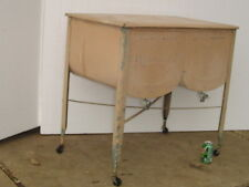 *LPU* Vintage IDEAL DOUBLE WASH TUB galvanized metal on stand laundry clothes