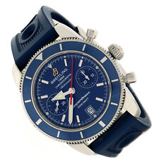 Breitling SuperOcean Heritage Chronograph 44MM Blue Dial Steel Mens Watch a23370