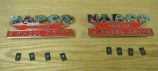 NAPCO POWR-PAK 4 WHEEL DRIVE CHROME EMBLEMS  Pair  new