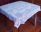 """Floral Lace Tablecloth round 120*120cm(55""""*55"""") white color 100% polyester"""