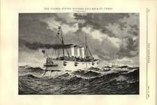 1892 United States Cruiser Columbia In Chase