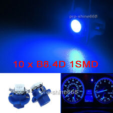 10x B8.4D 5050 1-SMD LED Instrument Cluster Dash Indicator Light Bulbs Blue LED