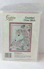 UNICORN Counted Cross Stitch Kit NEW Golden Bee 60355 With Frame 1988