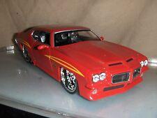 Toy Jada Dub Bigtime1:24 Red 1971 Pontiac GTO Judge Hot Rod Diecast Car