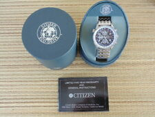 CITIZEN GMT WR100 ECO DRIVE CHRONO CHRONOGRAPH DEPLOYMENT BRACELET WATCH BOX SET