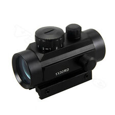 Holográfico Verde/Rojo Laser Dot Sight Tactical Alcance Picatinny Rail Gun Monte