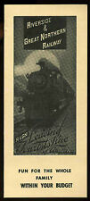 1958 Riverside & Great Northern Railway Railroad Timetable Time Table Train