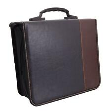 Stylish 520 Disc Leaf PVC CD DVD Storage Holder Wallet Bag Brown & Black Ne