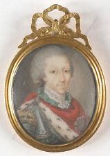 "Jean-Étienne Liotard-Attrib. ""King Charles Emmanuel IV of Sardinia"", miniature"