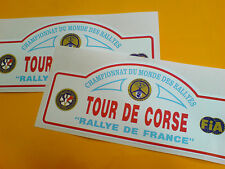 Tour de Corse Vintage Course Rallye Voiture Autocollants Stickers 2 off 150mm