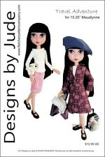 Travel Adventure Doll Clothes Sewing Pattern Maudlynne & LittleMissMatched
