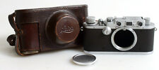 LEICA IIIA RANGEFINDER CHROME 35MM CLASSIC CAMERA + CASE
