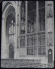 Glass Magic Lantern Slide WYKEHAM CHANTRY WINCHESTER CATHEDRAL C1890 PHOTO