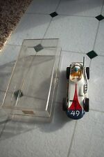 MARX SLOT CAR WITH ORIGINAL PLASTIC CASE SEARS ROEBUCK CO